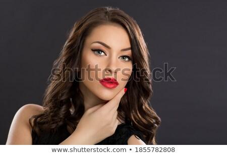 Atış tok dudaklar genç esmer Stok fotoğraf © igor_shmel