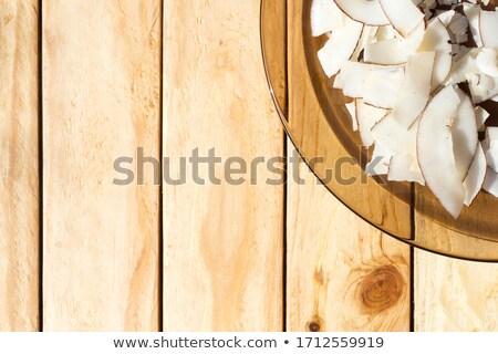 пластина кокосового чипов синий место Сток-фото © Digifoodstock
