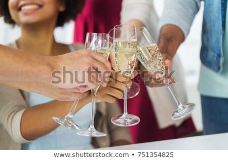 Kollégák pirít pezsgő születésnapi buli boldog kreatív Stock fotó © wavebreak_media