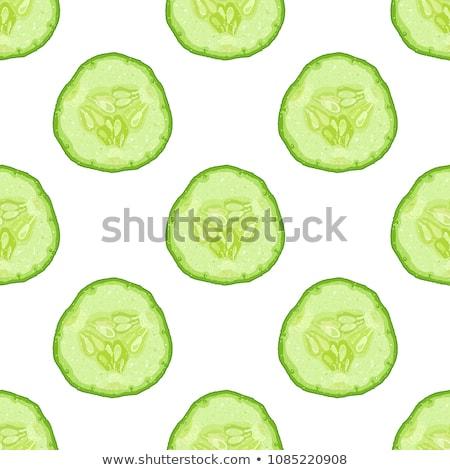 Stok fotoğraf: Seamless Pattern Cucumbers