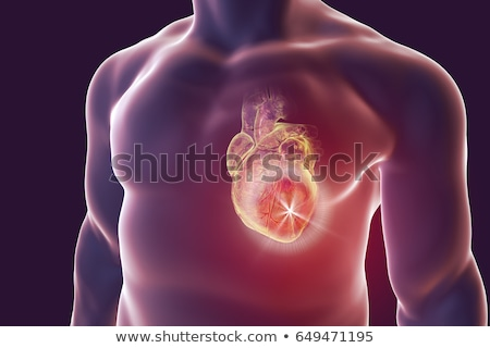 concept of treatment heart silhouette stock photo © olena