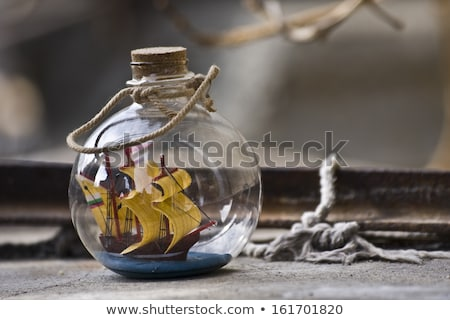 Little ship in a bottle Stock photo © Saphira