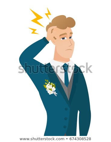 Caucasian groom with lightning over his head Stock photo © RAStudio