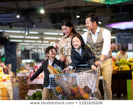 couple shopping in french market stock photo © is2