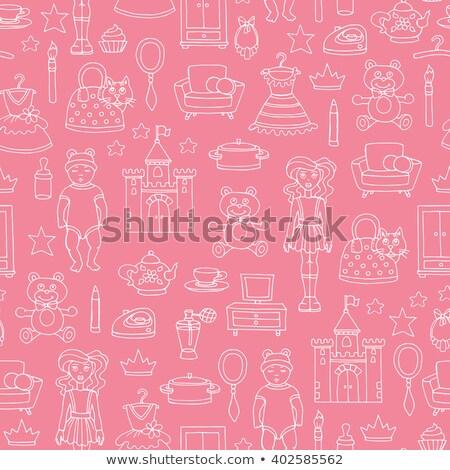 Lány játékok edény kicsi gyermek baba Stock fotó © Traimak 6c0772fbac