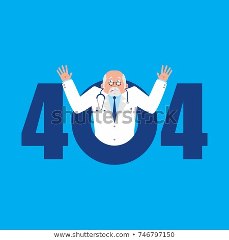 Error 404. Doctor surprise. Page not found template for web site Stock photo © popaukropa