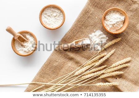 spoon of wheat flour stock photo © digifoodstock