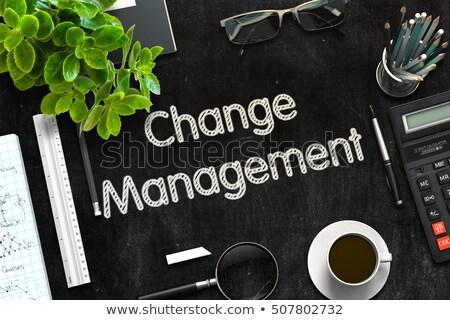 Preto quadro-negro mudar gestão 3D Foto stock © tashatuvango