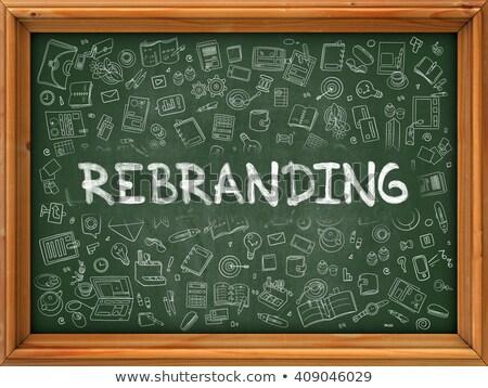 Rebranding - Hand Drawn on Green Chalkboard. Stock photo © tashatuvango
