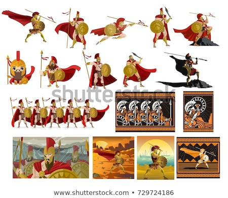 Cartoon Character Roman Soldier  Stock photo © Krisdog
