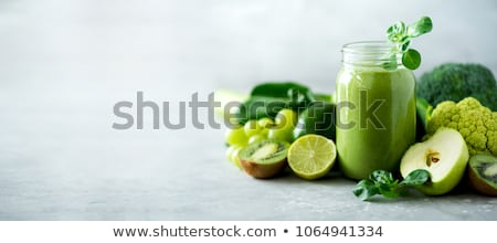 Stock photo: detox drinks and organic food