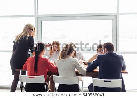 Nők összejövetel iroda dolgozik asztal menedzser Stock fotó © IS2