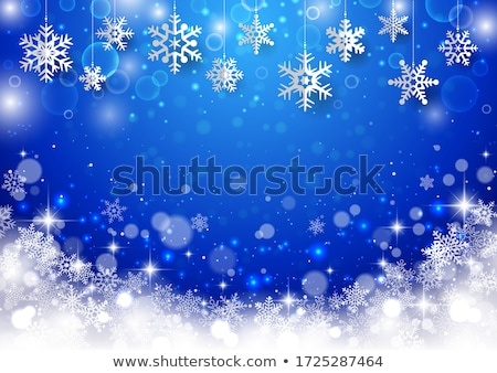 Christmas snowfall background. Winter Holiday Gift Card Stock photo © Terriana
