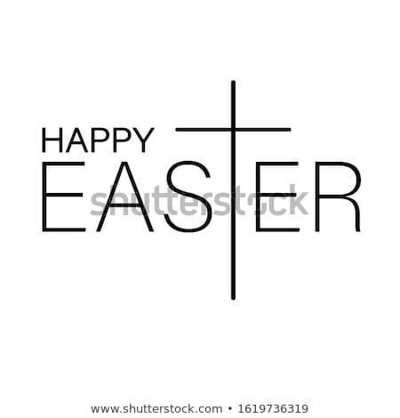 happy easter cross vector stock photo © carodi