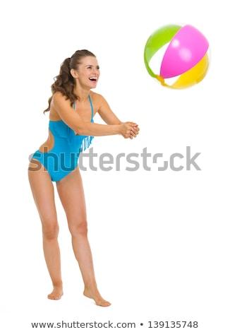 parti · kız · balonlar · mutlu · kadın - stok fotoğraf © dolgachov
