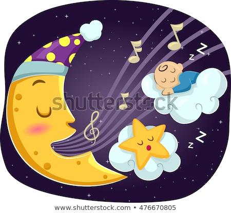 Mascot Moon Star Lullaby Baby Stock photo © lenm