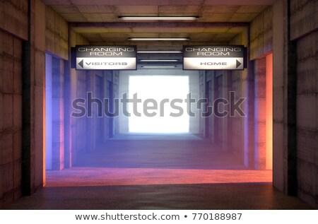 Esportes túnel concorrente mudar quartos olhando para baixo Foto stock © albund