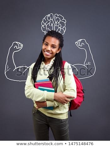 Be Strong on Small Chalkboard. Stock photo © tashatuvango