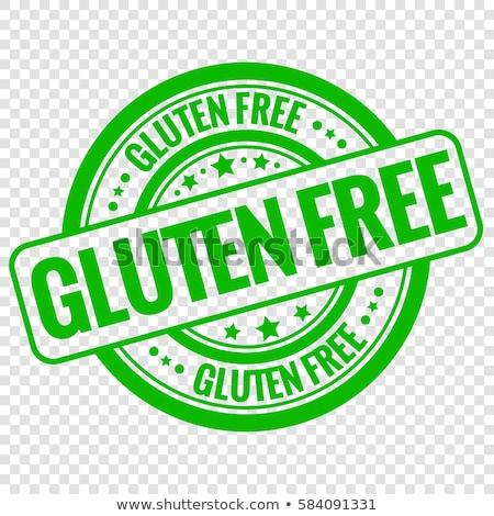Glutenvrij stempel teken transparant papier voedsel Stockfoto © barbaliss