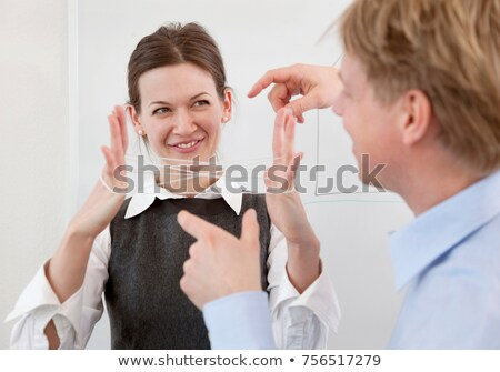 Businesspeople playing string game Stock photo © IS2