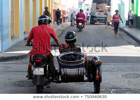 women with motorbike and sidecar stock photo © is2
