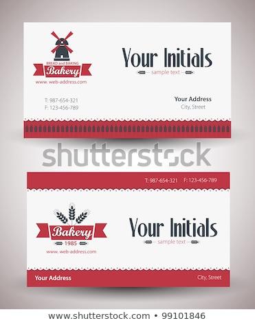 Bakery company business card template Stock photo © studioworkstock
