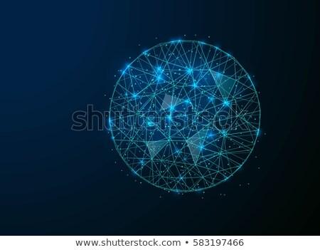 Gömb vektor grafikus szimbólum virtuális valuta Stock fotó © tashatuvango