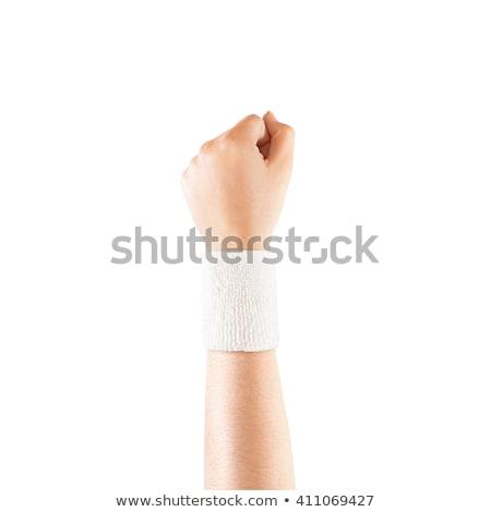 Homme poignet bandage Homme santé Photo stock © IS2