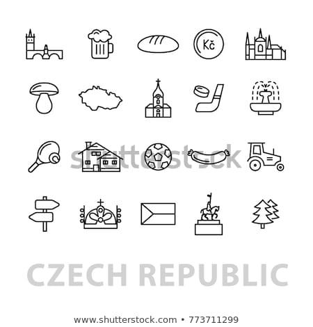 Vinte República Checa ícones futebol cerveja mapa Foto stock © glorcza
