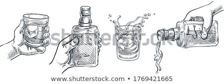 強い アルコール ドリンク ボトル ショット ガラス ストックフォト © stevanovicigor