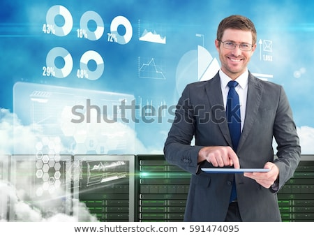 A Dull Businessman on White Background Stock photo © bluering