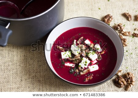 Barbabietole zuppa formaggio mangiare vegetali pasto Foto d'archivio © glorcza