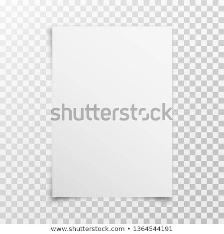 Fehér papír lap vázlat sablon izolált Stock fotó © daboost