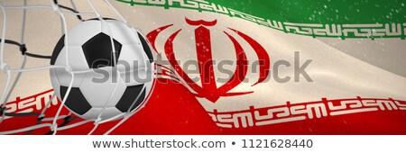 Stock fotó: Futballabda · gól · net · digitálisan · generált · iráni