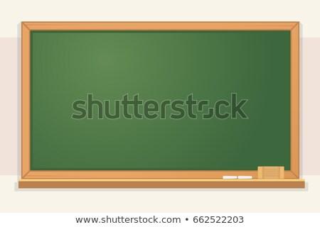 school classroom chalkboard cartoon design with text stock photo © hittoon