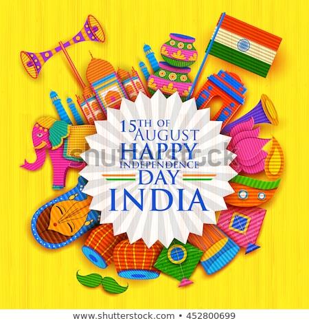 tricolor · Indie · banner · ilustracja · indian · banderą - zdjęcia stock © sarts