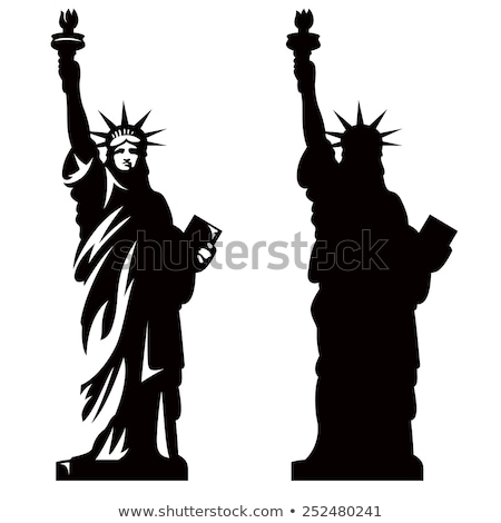USA Statue of Liberty Landmark Vector Illustration Stock photo © robuart