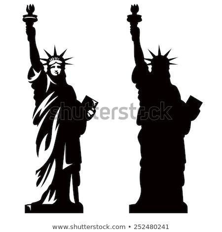 heykel · özgürlük · amerikan · bayrağı · örnek · dünya · arka · plan - stok fotoğraf © robuart