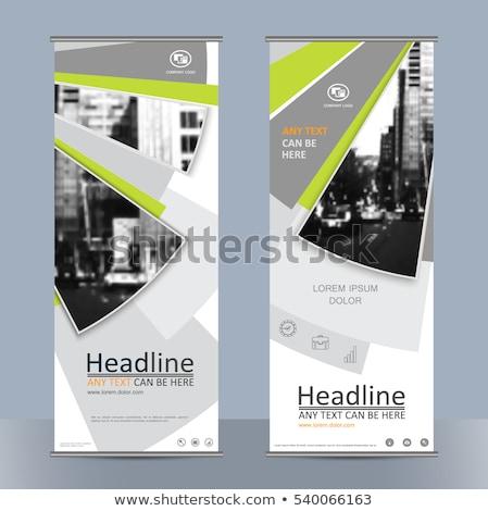 Miasta ramki szablon prezentacji miasta drogowego Zdjęcia stock © popaukropa