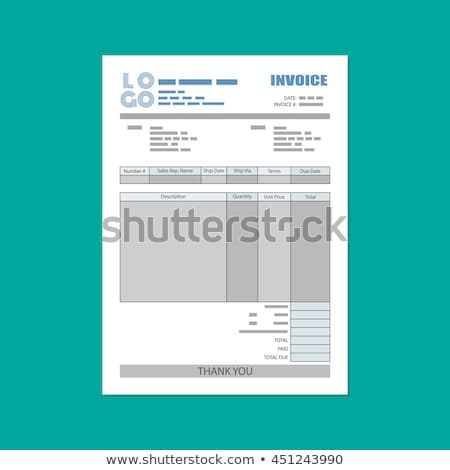 invoice template design in abstract style Stock photo © SArts