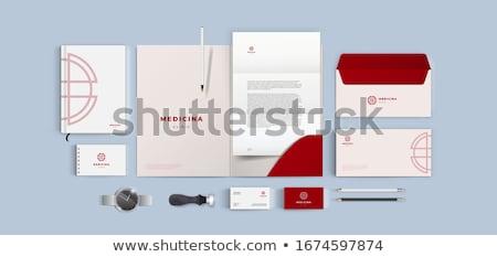 красный профессиональных бизнеса брендинг канцтовары набор Сток-фото © SArts