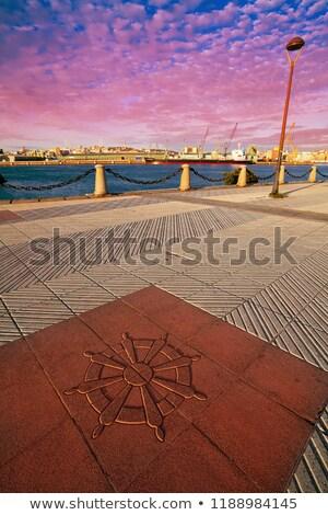 la coruna port pavement detail in galicia spain stock photo © lunamarina