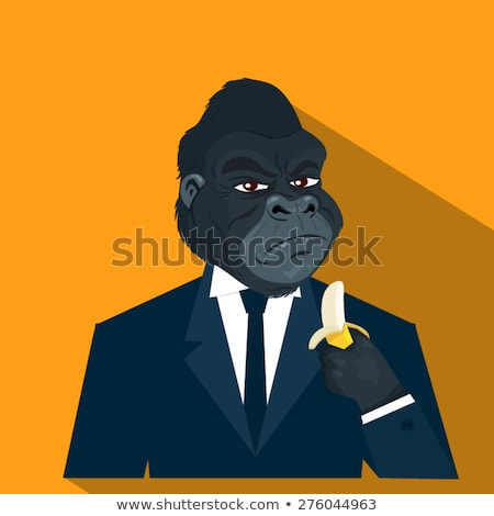 Cartoon Gorilla Tie Stock photo © cthoman
