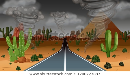 Cyclone storm desert scene Stock photo © bluering