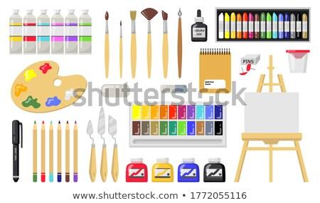 Artista apagador cavalete estúdio arte criatividade Foto stock © dolgachov