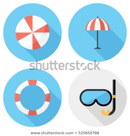 Retro strandbal icon ontwerp sport achtergrond Stockfoto © Linetale