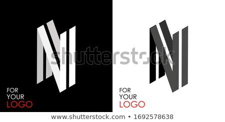 черно · белые · буква · С · 3D · 3d · визуализации · иллюстрация - Сток-фото © djmilic