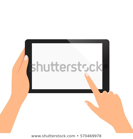 Tablet Gadget in Womans Hands Vector Illustration Stock photo © robuart