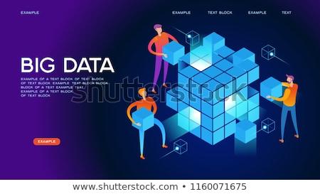 Büyük veritabanı dizüstü bilgisayarlar çalışma veri Stok fotoğraf © RAStudio