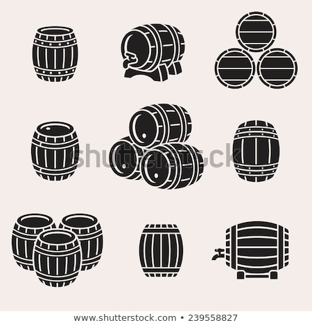 beer barrel icon vector illustration stock photo © vicasso